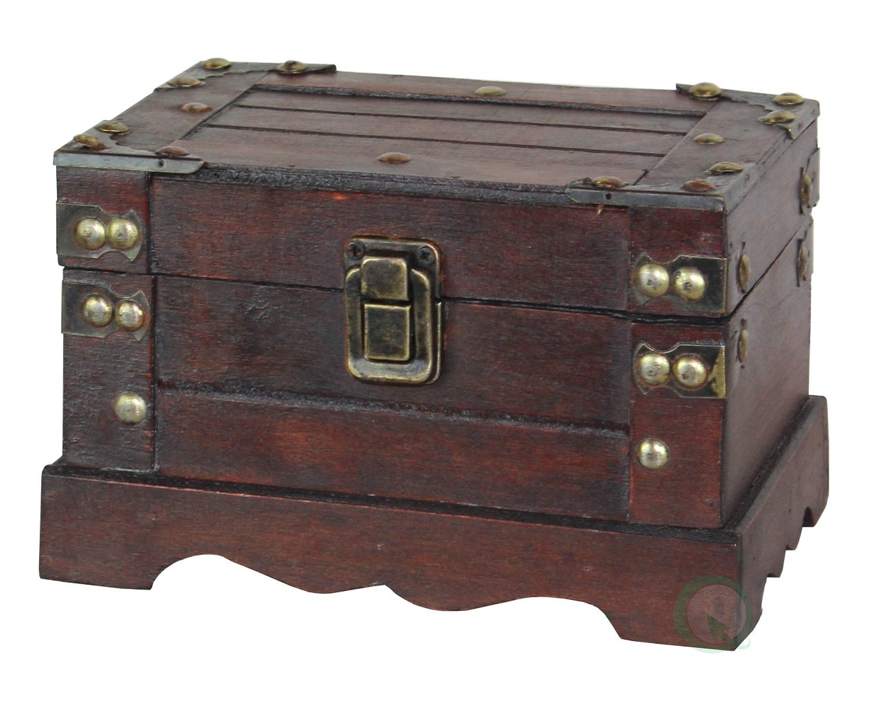 Old Style Wooden Chest in Antique Cherry (Small)