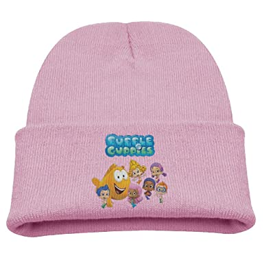 69fe7fa3e257c Bubble Guppies Cartoon Warm Winter Hat Knit Beanie Skull Cap Cuff Beanie Hat  Winter Hats Children