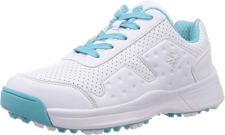 [フォーセンス] レディース ゴルフ スパイクレスシューズ ウォーキング 靴 MIK2 ファスナー スポーツ アウトドア トレッキング スニーカー ホワイト 23.5 cm 3E