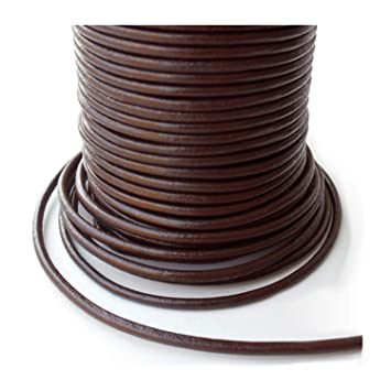 new style ad583 46b26 AURORIS - 5m Lederband rund - Ø 1mm - braun
