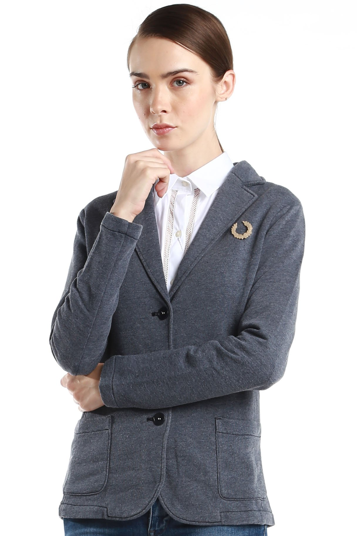 Fred Perry Green Label Women's Small Navy Blazer