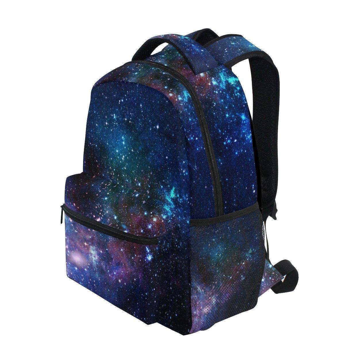 AHOMY ガールズ スクールバックパック ギャラクシー 星 宇宙 大学 ブックバッグ レディ 旅行 リュックサック   B07G3Z8ZPP