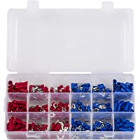 Eagles(TM) 360pcs Waterproof Wire Connectors - Mixed Assorted Lug Kit Crimp Ring Terminals Spade Connector Set Insulated…