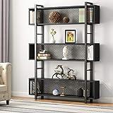 Tribesigns 5-Shelf Bookshelf with Metal Wire, Modern Industrial Bookcase Display Shelf Storage Organizer with Metal…