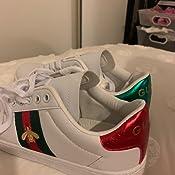 Amazon.com: Preslovemm Clásico Moda Bee Blanco Zapatos: Shoes