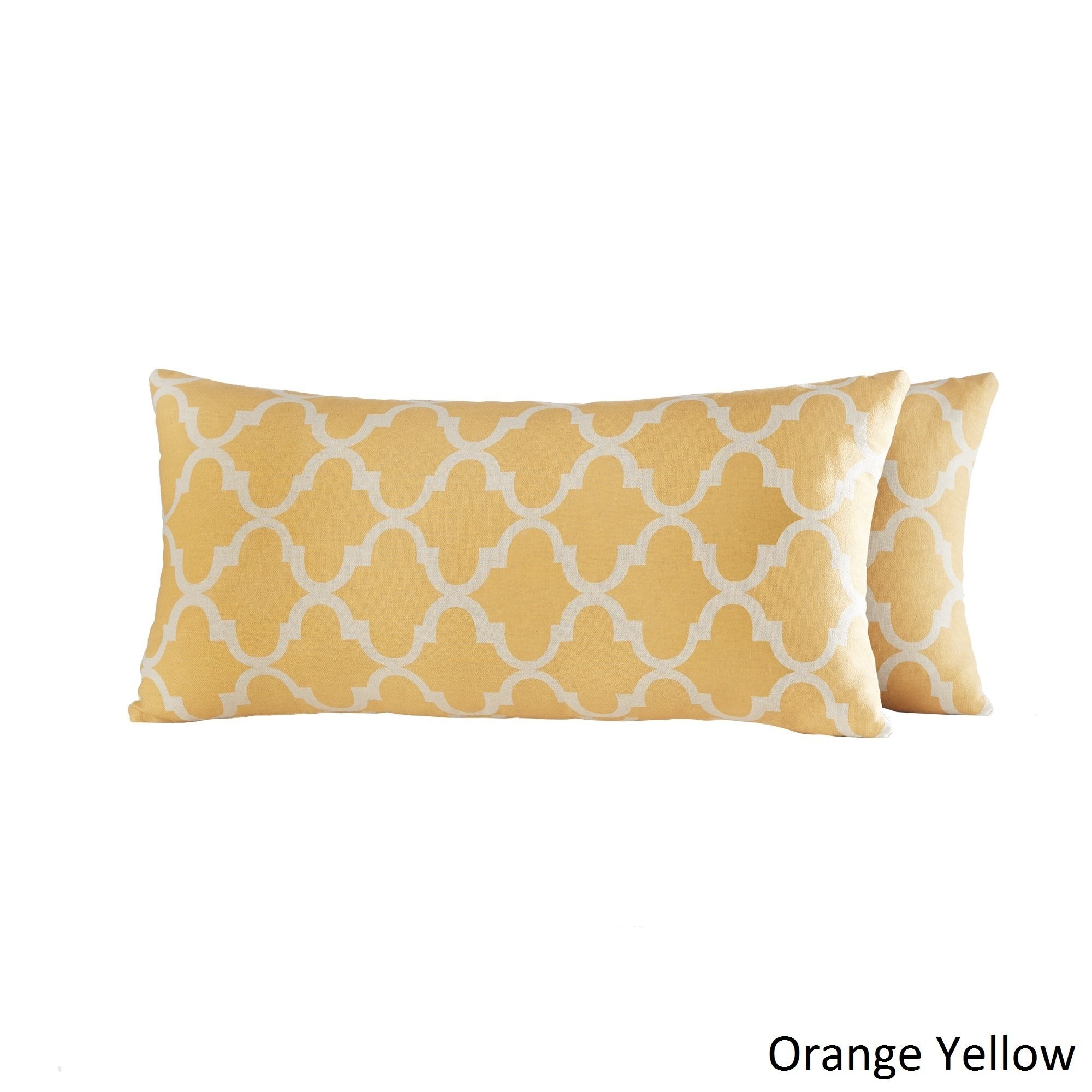 Inspire Q Montvale Moroccan Pattern Toss Kidney Pillow (Set of 2) by Bold Yellow