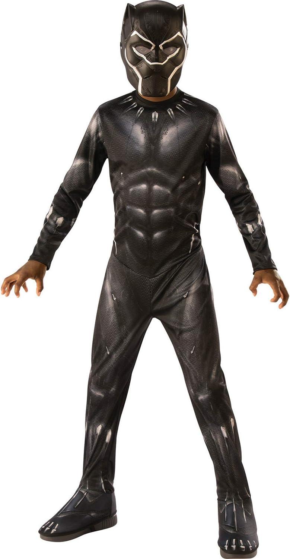 Rubies 641046-M Avengers - Disfraz de Pantera Negra para niños, Black Panther, M (5-7 años)