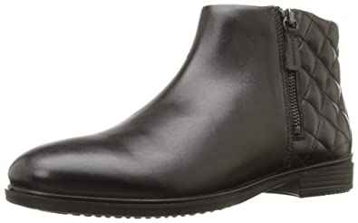 ECCO Footwear Womens Touch 15 Quilted Bootie Chelsea Boot, Black/Black, 38  EU