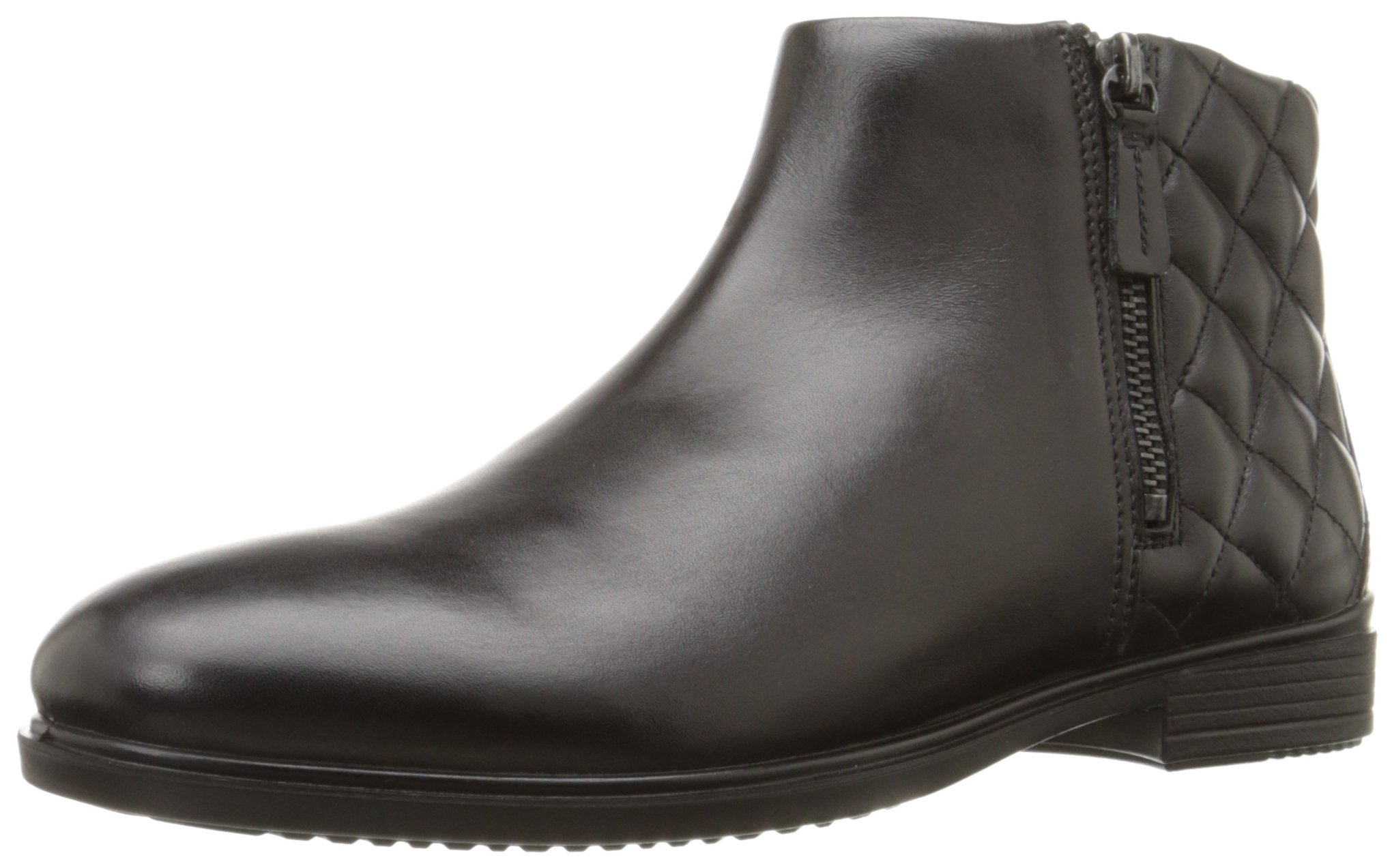 Ecco Footwear Womens Touch 15 Quilted Bootie Chelsea Boot, Black/Black, 39 EU/8-8.5 M US