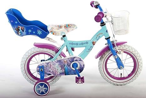Bici Bicicletta Bambina 12 Pollici Disney Frozen Con Cestino E