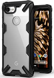 Ringke Fusion-X Compatible with Pixel 3 Case Ergonomic Transparent Military Drop Tested Defense Hard PC Back TPU Bumper Impact Resistant Protection Cover for Google Pixel 3 - Black
