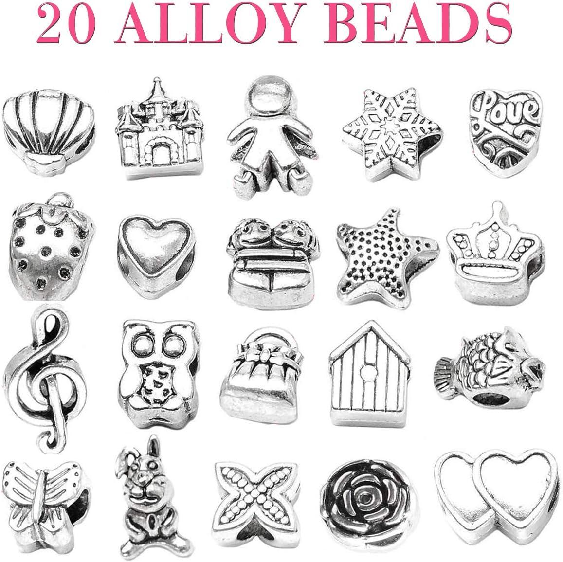 Kit de fabricaci/ón de joyas para ni/ñas Artes y manualidades para ni/ños Regalos de regalo de 6 a 12 a/ños Aivatoba DIY Charm Bracelet Making Sets Manualidades para ni/ños ni/ñas