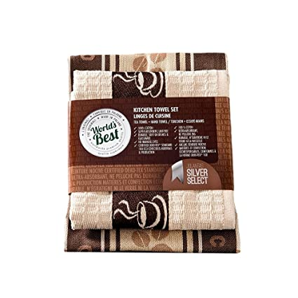 World S Best Kitchen Tea Hand Towel Set Super Absorbent Tea Towel 20 X27 5 Hand Towel 20 X20 Cafe Latte