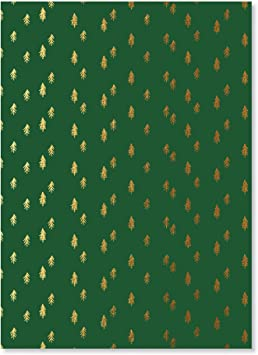 Brand New 24M Green White Black Stag Christmas Wrapping Paper