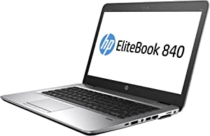 HP EliteBook 840 G1 14in HD Business Laptop Computer Ultrabook, Intel Core i5-4300U 1.9 GHz Processor, 8GB RAM, 128GB SSD, USB 3.0, VGA, Wifi, RJ45, Windows 10 Professional (Renewed)
