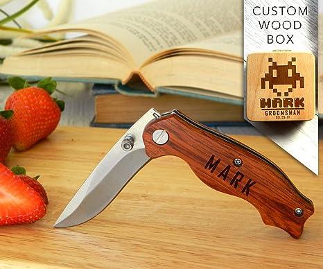 Amazon.com: Cuchillo personalizado, cuchillo grabado ...