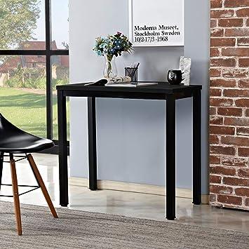 Teak/&Wei/ß AC3BW-100 Need Computertisch Schreibtisch 100x60 cm PC Tisch B/ürotisch Arbeitstisch Esstisch f/ür Home Office
