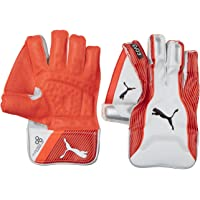 Puma, Cricket, Evo 3 Wicket Keeper Gloves, Small Boy, Fiery Coral/White