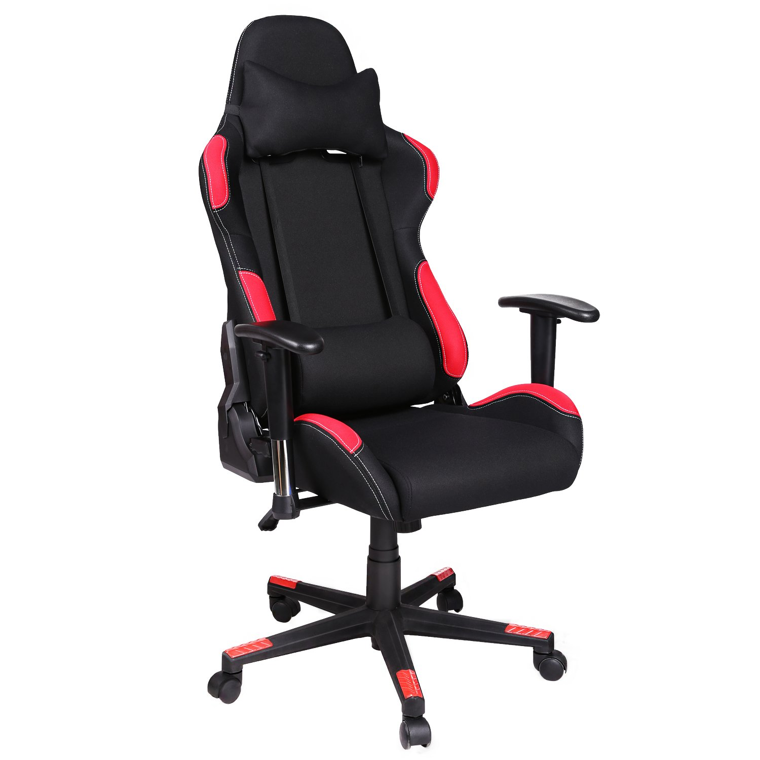Homdox Executive Racing Gaming Chair,Durable Metal Frame Swivel Ergonomic Breathable High Back PU Leather Computer Desk Seat Office Chair Furniture with Lumbar Support and Headrest for Adults