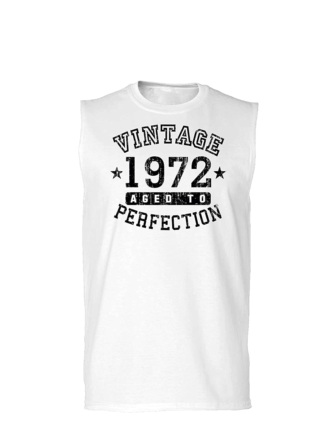 Vintage Birth Year Muscle Shirt Brand TooLoud 1972