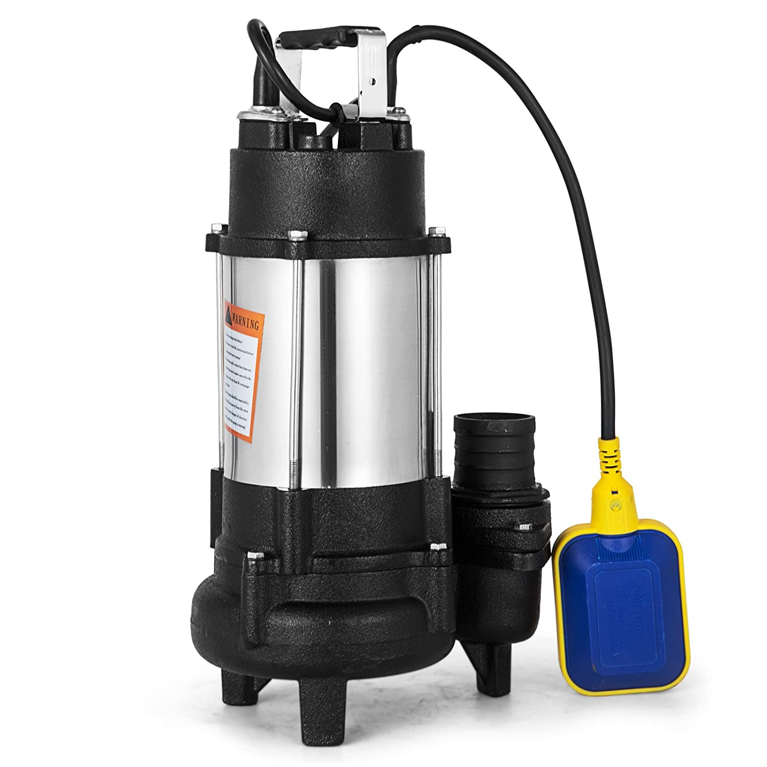 Happybuy Submersible Sewage Pump 110v 1hp Stainless Steel Electric Septic Wiring Outlet Removal 6340 Gph For Clean Dirty Water Transfer
