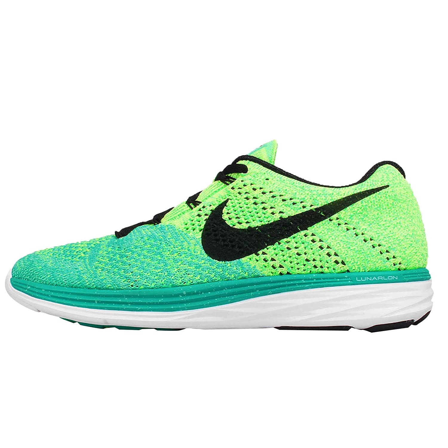 Amazon.com | Nike Women's Wmns Flyknit Lunar3, ATOMIC TEAL/BLACK-GREEN GLOW-VLTG  GREEN, 7.5 US | Running