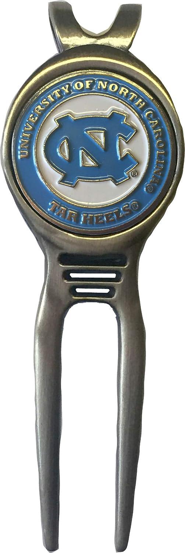 North Carolina Tar Heels ゴルフディボットツール 真鍮 ギフトに最適 UNC Acc ブルー   B07JMGT7HG