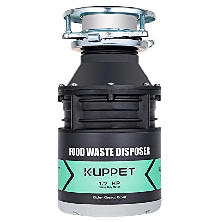 Garbage Disposals KUPPET 1 2 HP Food Waste Disposer with Power Cord 1700 RPM Continuous Feed Super Quiet Easy to Install 34 OZ. Capacity Stainless Steel