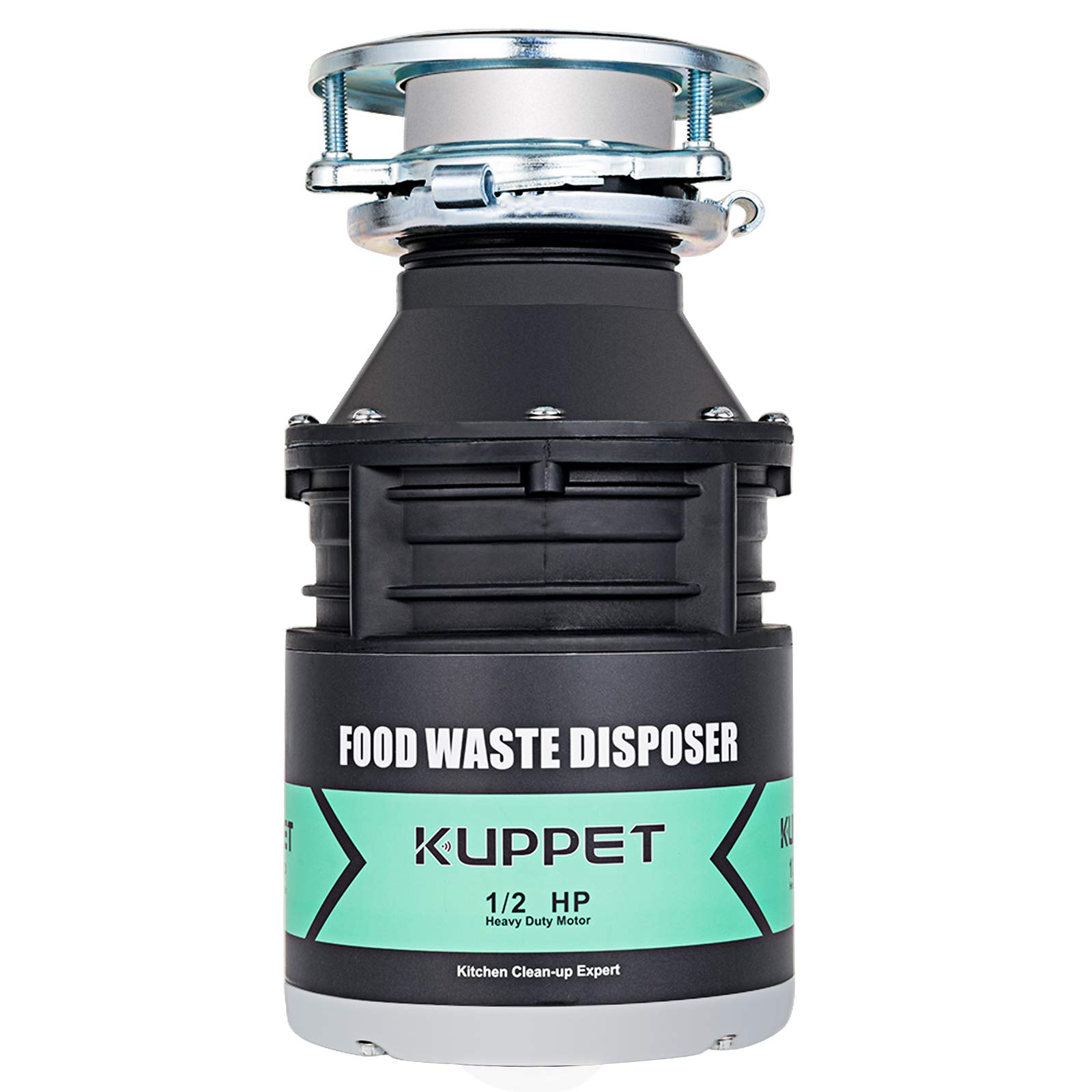 Garbage Disposals KUPPET 1/2 HP Food Waste Disposer with Power Cord 1700 RPM Continuous Feed Super Quiet&Easy to Install 34 OZ. Capacity Stainless Steel