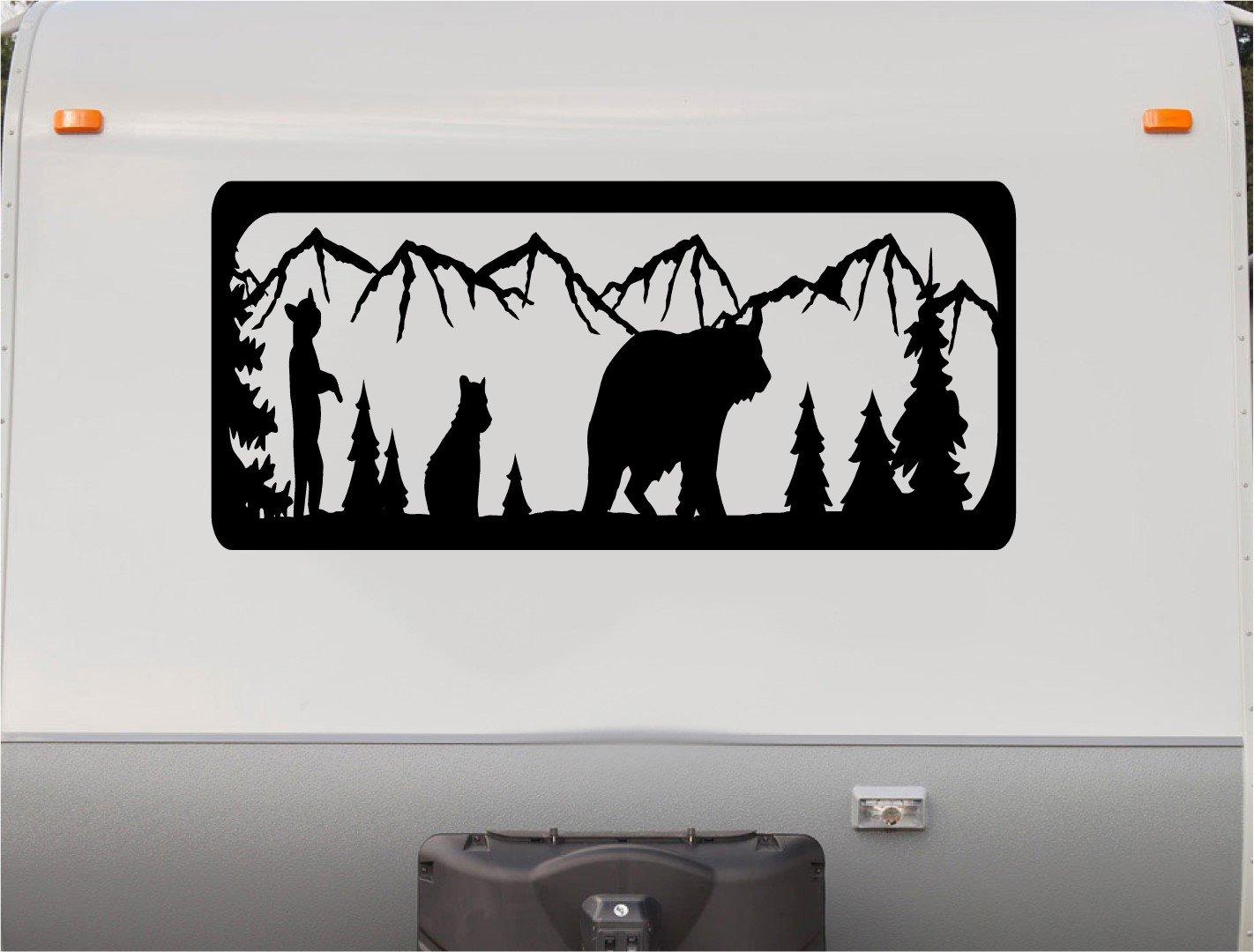 Amazon com bear hunting mountains motor home stripe kit rv stickers trailer stickers camper vinyl decal sticker graphic motorhome decals rv stripe