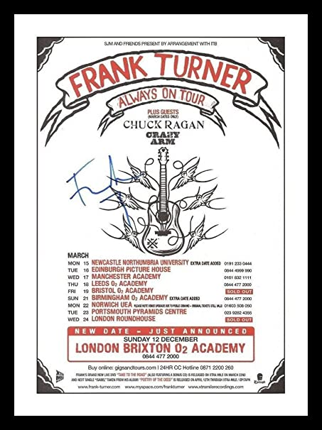 Frank Turner Autographed Signed 21cm x 29.7cm A4 Photo Poster