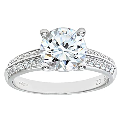 3a004add99d Citerna-Bague Solitaire Femme - Or blanc (9 carats) 2.9 Gr - Oxyde