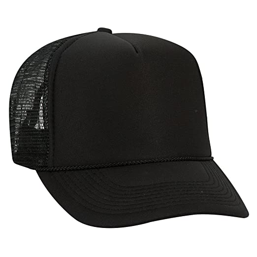 bc7cdc71e7678 Product of Ottocap Polyester Foam Front Five Panel High Crown Mesh Back Trucker  Hat -Black