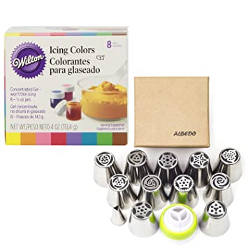 Amazon.com : Wilton Food, Icing, Decorating Coloring Gel Set of 8 ...