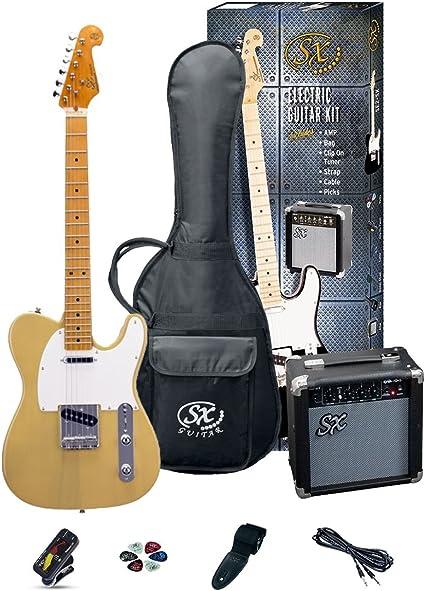 SX SE2SKBSB Pack Guitarra eléctrica: Amazon.es: Instrumentos musicales