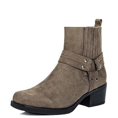 dee96800b404e Amazon.com   Spylovebuy Spider Women's Cowboy Western Block Heel ...