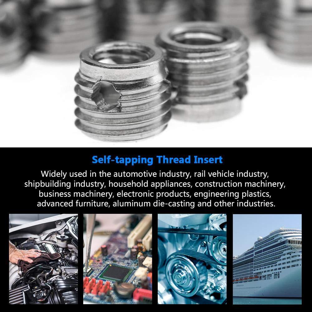 10Pcs 307 Stainless Steel Thread Repair Insert Assortment M8 Self-Tapping Thread Insert Screw Kit