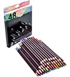 48 Professional Oil Based Colored Pencils For Artist Including Skin Tone Pencils For Coloring Drawing And Sketching