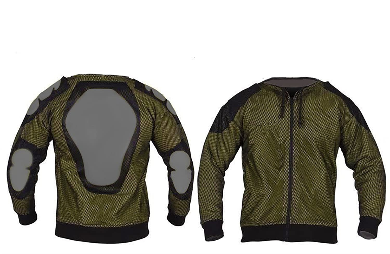 Lrg  44//46 Bikers Gear Crossfire Black Motorcycle Hoodie Jacket Fully Lined with Reinforced DuPont/™ Kevlar/® CE1621-1 PU Armour