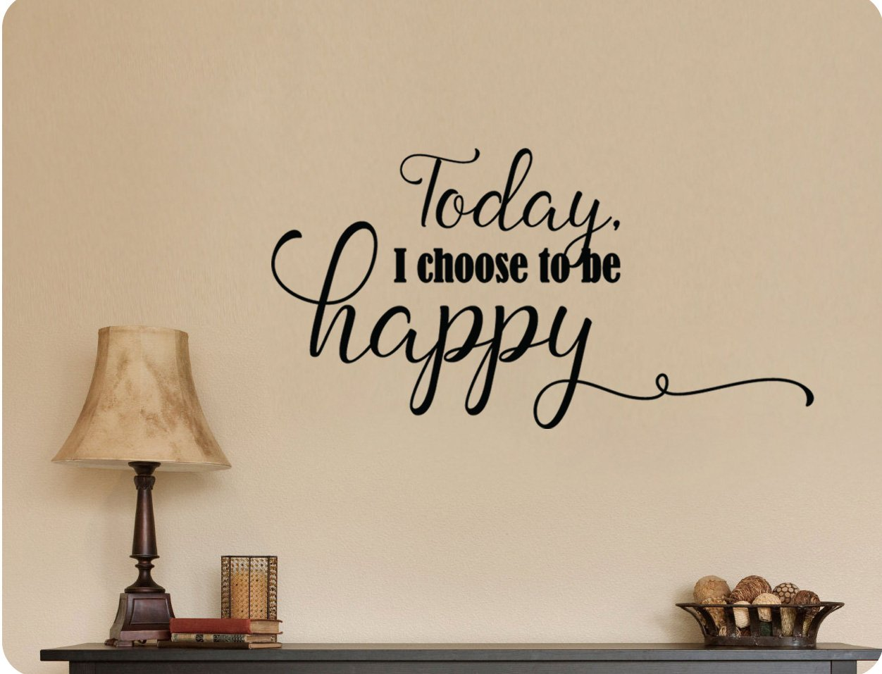 Amazon 24x12 Today I Choose To Be Happy Wall Decal Sticker