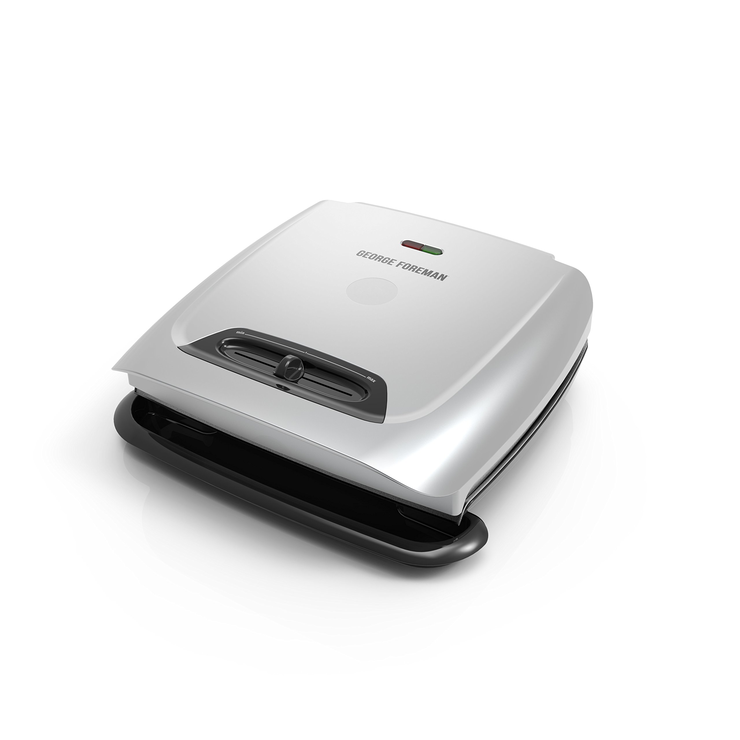 George Foreman 8-Serving Classic Plate Grill and Panini Press with Adjustable Temperature, Platinum, GR2121P by George Foreman