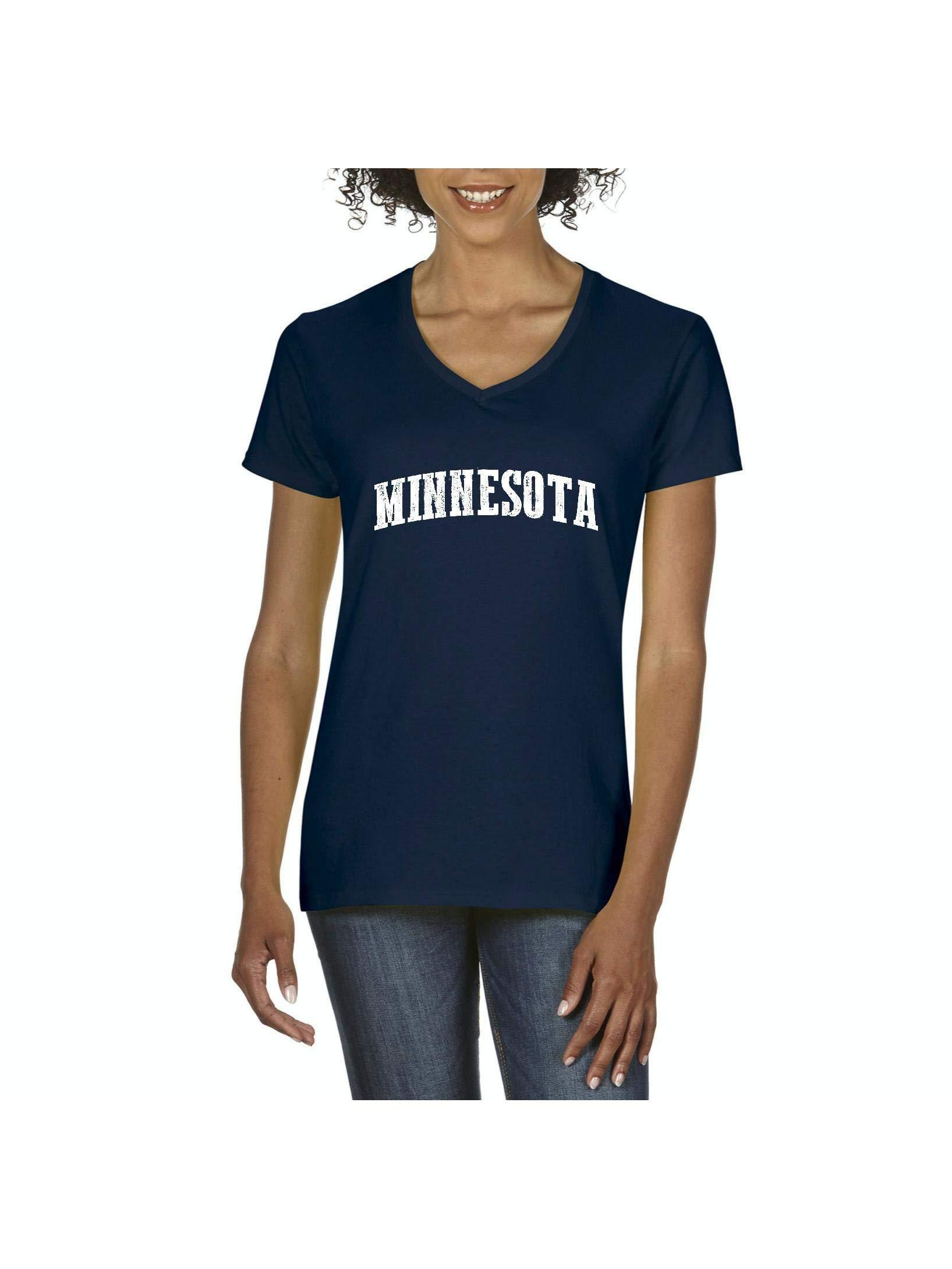 Moms Favorite Minnesota State Flag Travelers Gift Vneck Tshirt Tee