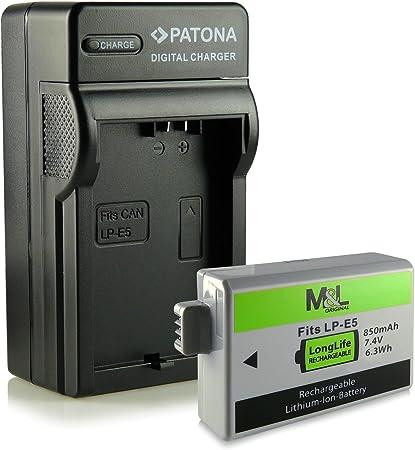 Chargeur Batterie Lp E5 Pour Canon Eos 450d Eos 500d Eos 1000d Digital Rebel Xsi T1i Xs Xsi Amazon Fr Photo Caméscopes