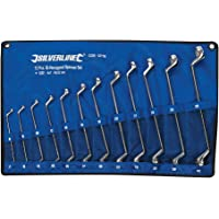 Silverline 627185 Deep Offset Ring Spanners Set, 6-32 mm - 12 Pieces