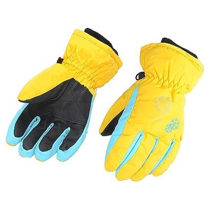 6e8deaa62 AMYIPO Kids Winter Snow Ski Gloves Children Snowboard Gloves for Boys Girls  (Yellow, XS