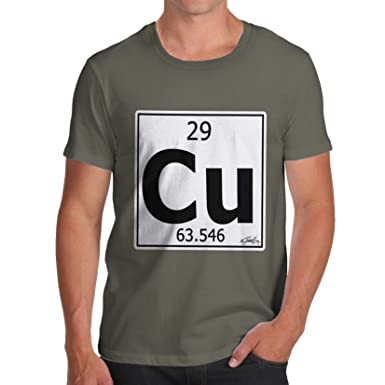 Twisted Envy Mens Periodic Table Element Cu Copper T Shirt Amazon