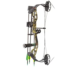 PSE Archery, Mini Burner Compound Bow, Mossy Oak Country Camo, Right Hand, 40#