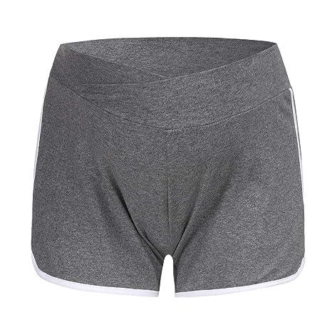 RISTHY Pantalones Cortos Premam/á Pantalones de Deporte Leggings Pantal/ón de Yoga Pijamas Push Up El/ástico Talle Bajo para Barriga Mujer Embarazada Maternidad