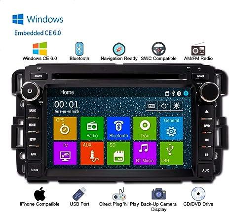 In Dash GPS Navigation Bluetooth DVD AM/FM Multimedia Radio (Fits: GMC Sierra 07-13, GMC Acadia 07-13, GMC Yukon 2007-2013, Chevy Silverado 07-12, ...