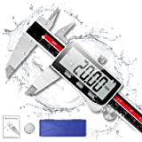 Digital Caliper, Qfun Extreme Accuracy Vernier Calipers 6 inch/150mm, Full Stainless Steel Micrometer Measuring Tool…